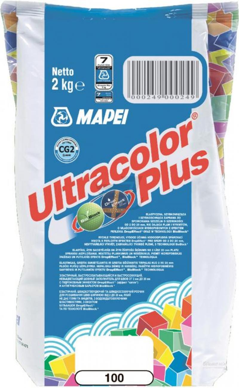 Фото: Mapei Зат Ultracolor PLUS 100/2 белый