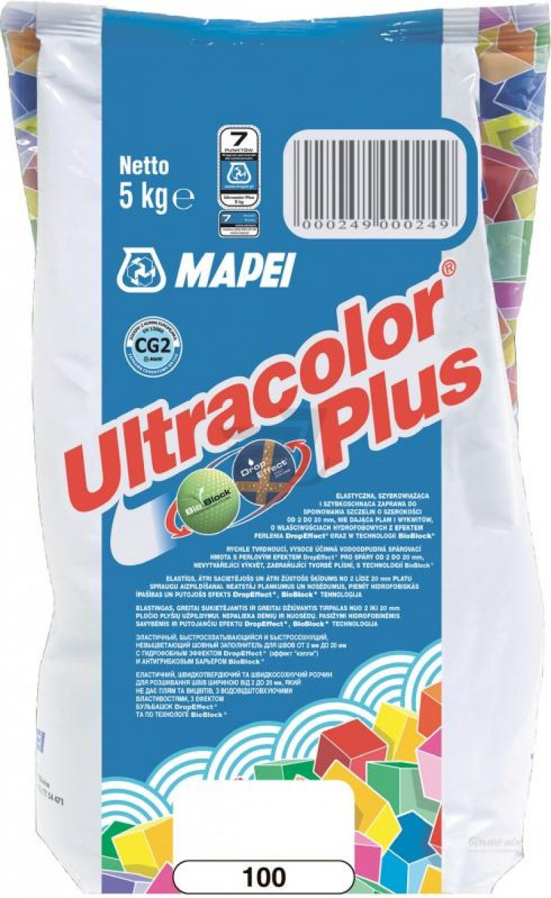 Mapei Зат Ultracolor PLUS 100/5 белый